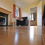 laminate flooring living room worms eye view