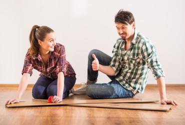 laminate floor couple