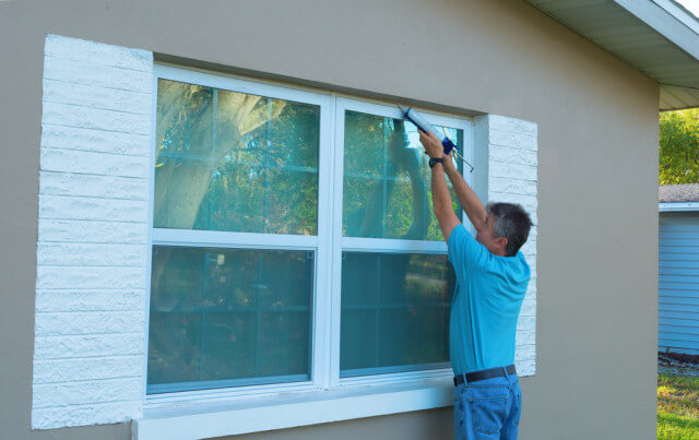weather proofing window exterior