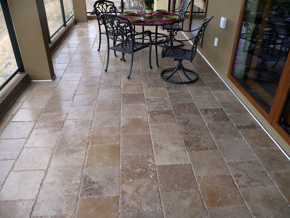 outdoor marble flooring reasons to use travertine tile and pavers