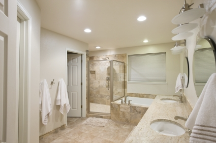 Travertine Tile Bathroom