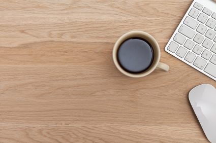 office table top. Desk Top And Cup Of Coffee Office Table W