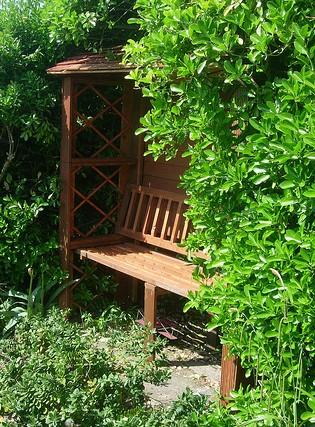 Garden Arbor And Bench