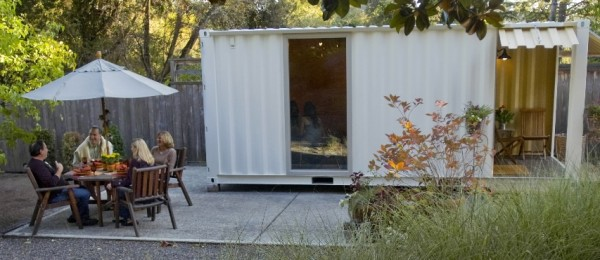 Mike Corvi's shipping container based work area (http://tinyhouseblog.com)