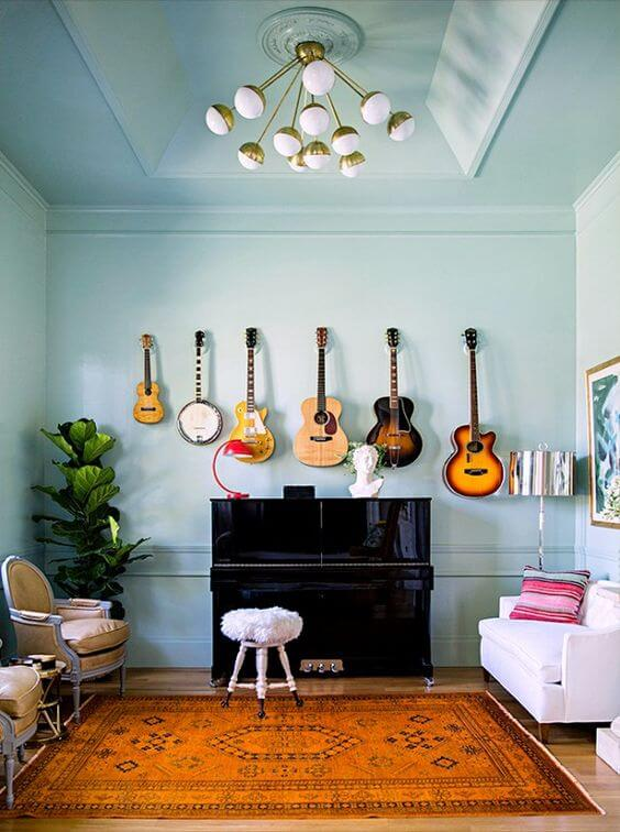 musical instruments and interior design room composition!Musical Interior Design #12