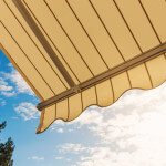 awning with blue sky