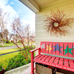 painted porch bench