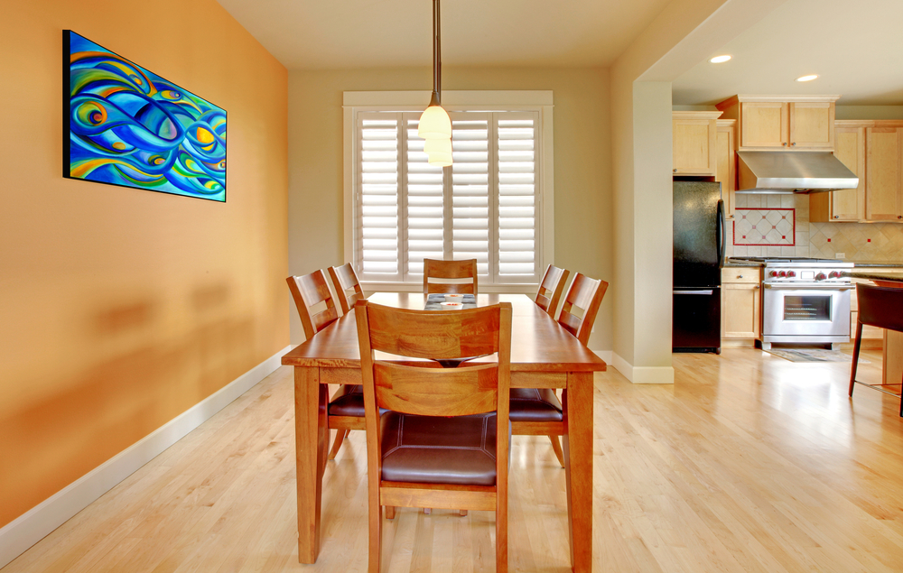 Kitchen Dining Room Light Wood Flooring