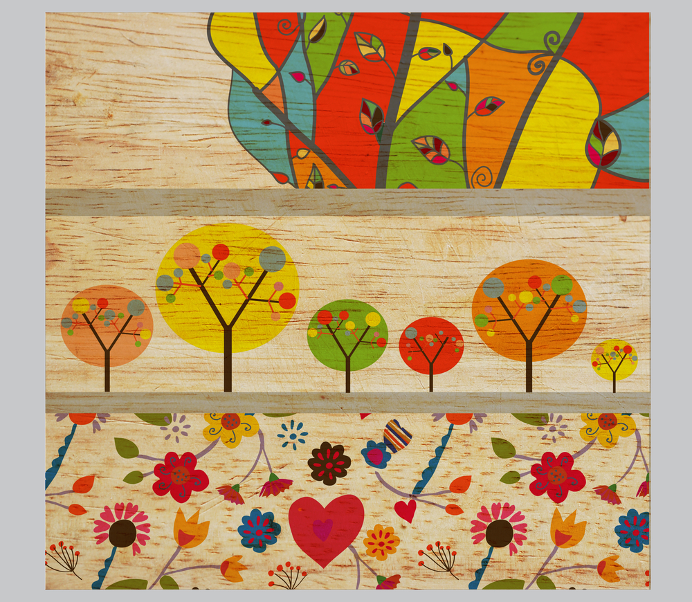 Kids Wallpaper Three Strips