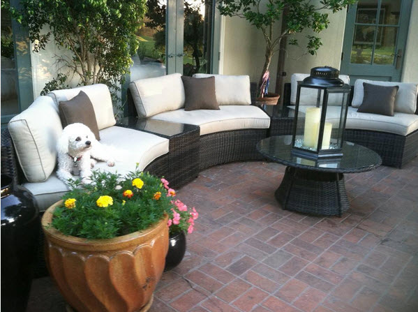 patio conversation set covers curved bench outdoor sets with fire pit