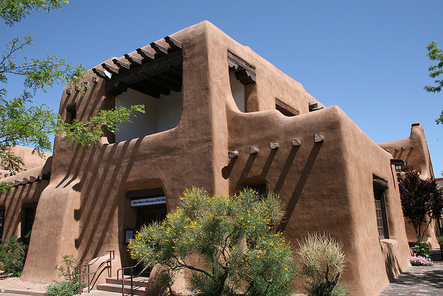 American style santa fe the pueblo revival for Southwest architecture