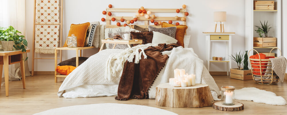 fall bedroom home decor