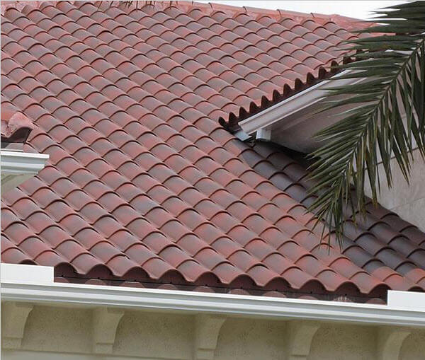 Spanish clay tile roof home design for Clay tile roofs