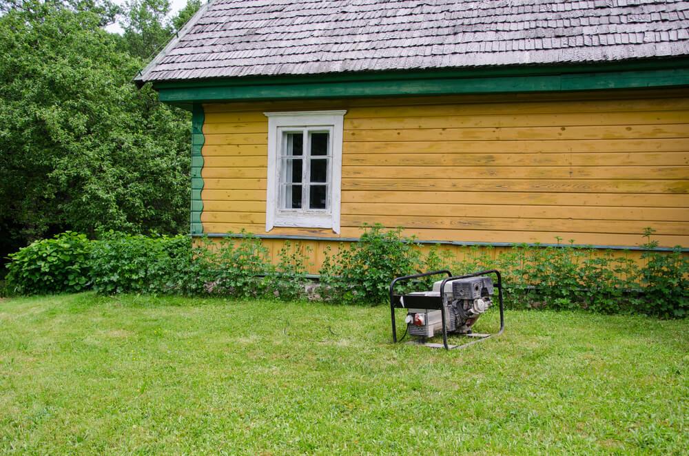 Portable generator lawn siding