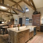 rustic kitchen exposed roofbeams