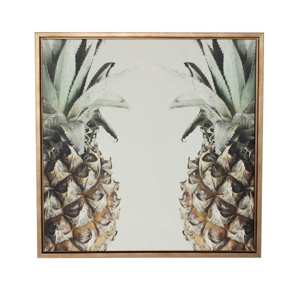 DesignOvation Pineapple Gold Framed Canvas Wall Art SKU: 15170922
