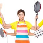 multitasking housework