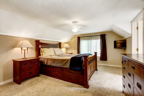low ceiling bedroom