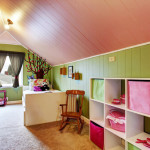 kids bedroom attic low ceiling