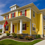 yellow house exterior paint