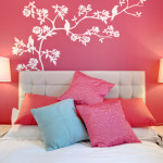 bedroom wall mural art