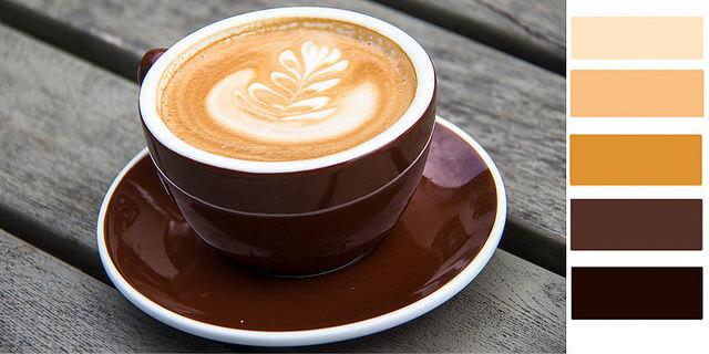 color palette of the week latte