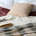 bedding book glasses