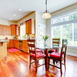 cherry hardwood flooring kitchen dining room