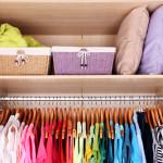 organized summer closet