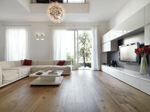 white oak living room floor