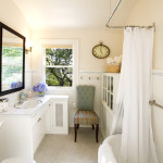 small elegant bathroom natural light
