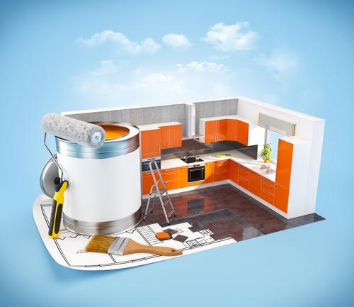 kitchen renovation illustration