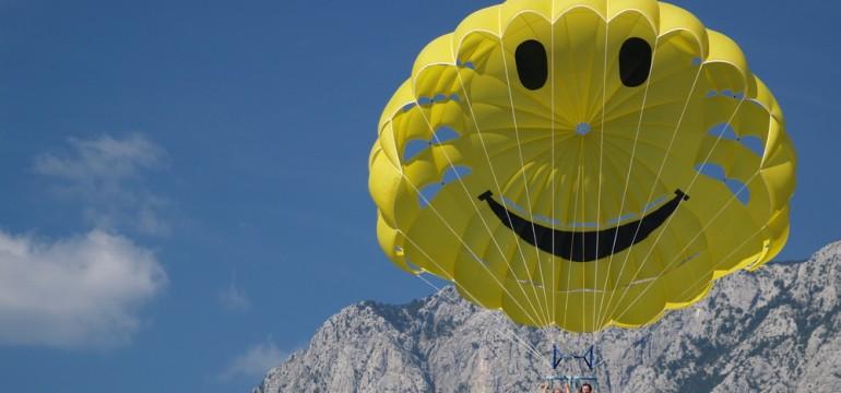 happy parasailors