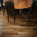 black walnut hardwood flooring dining room
