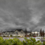 storm over the suburbs