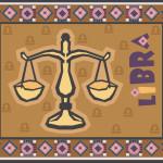 Astrology sign Libra illustration