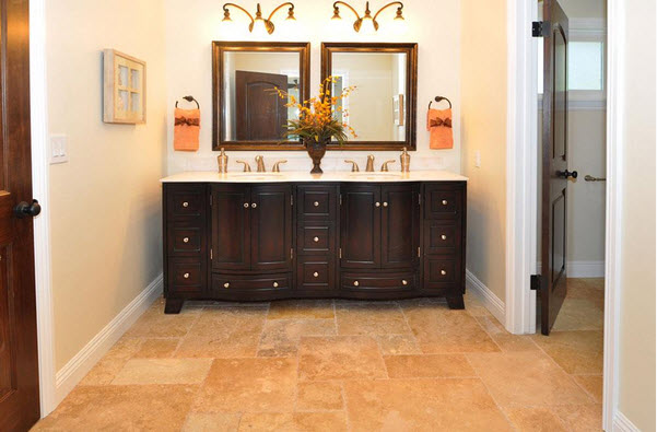 Mina Rustic Antique Pattern Brushed, Chiseled, and Partially Filled Travertine