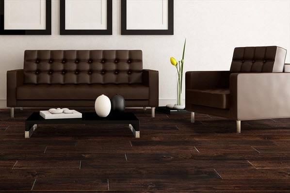 acacia hardwood flooring living room scene