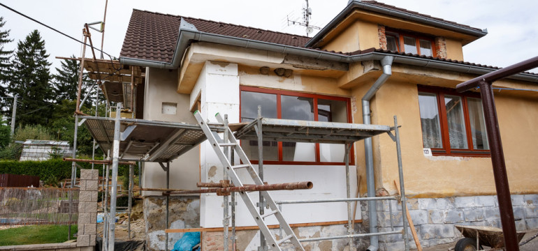 home remodel scaffolding