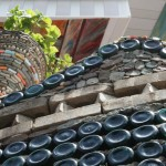 reclaimed building materials bottle wall