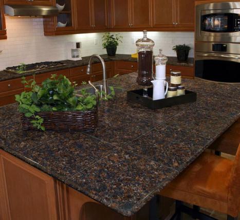 Pedra Granite Modular Kitchen Tiles - Topstone Collection Tan Brown