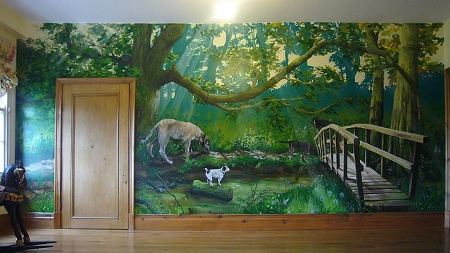 forest mural wall decor