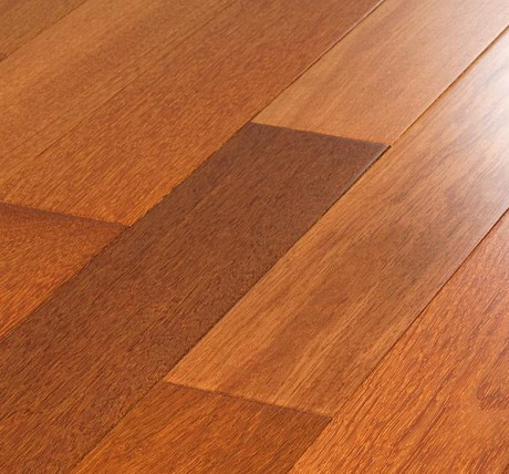 natural kempas hardwood flooring grain pattern