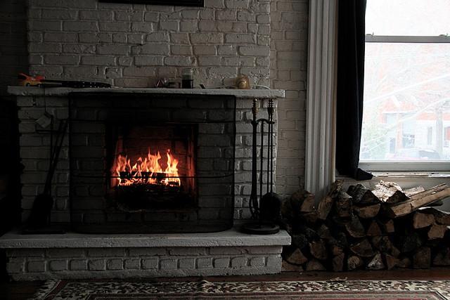 roaring fire winter