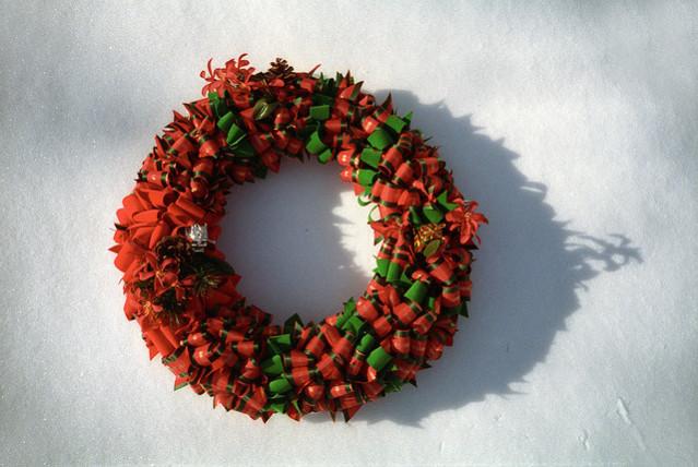 riveting ribbon wreath