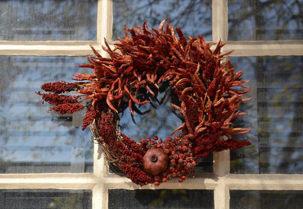alluring auburn fall wreath
