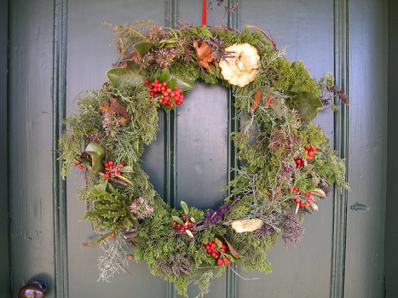 grassy garland wreath