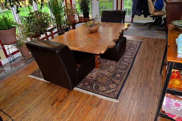 brushed sandalwood flooring
