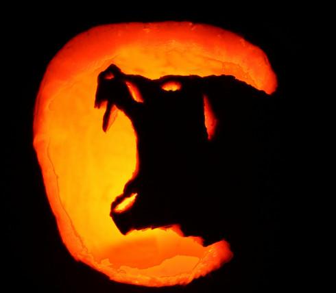 wolf jack o lantern