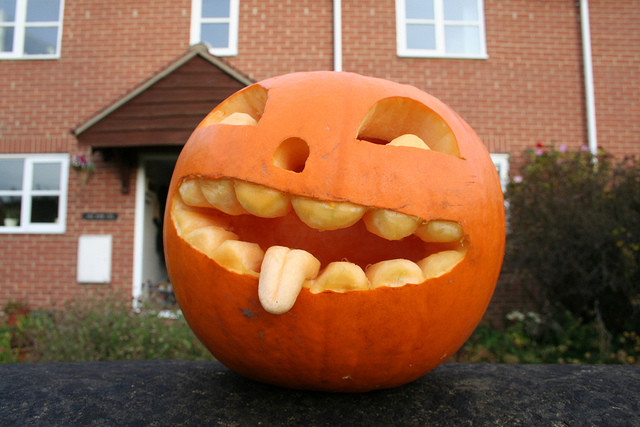 pumpkin carving bigmouth strikes again
